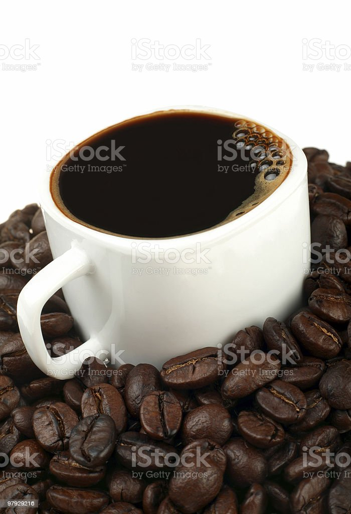 Coffee and bean royalty-free stock photo