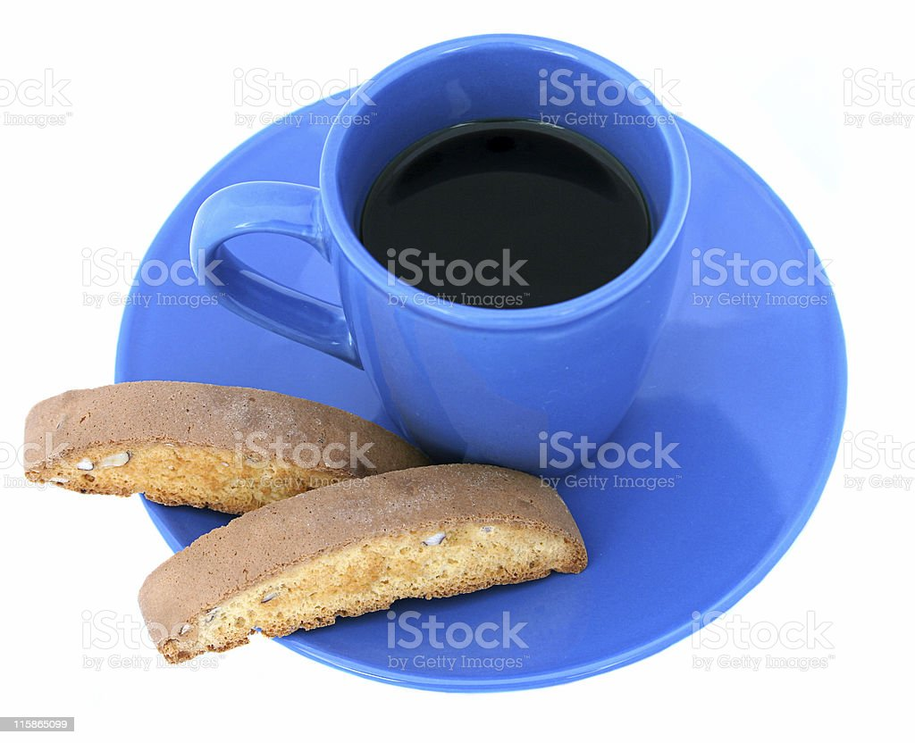 Coffee and Biscotti Isolated royalty-free stock photo