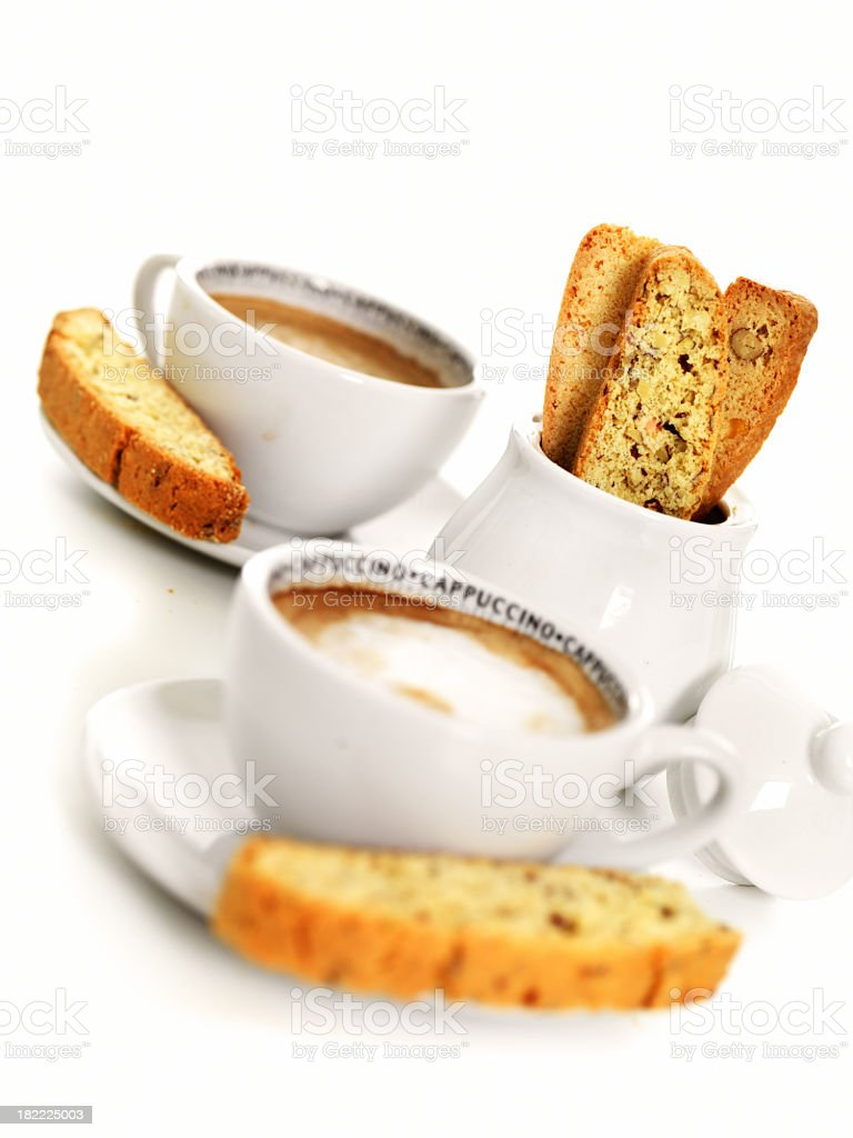 Coffee and biscotti royalty-free stock photo