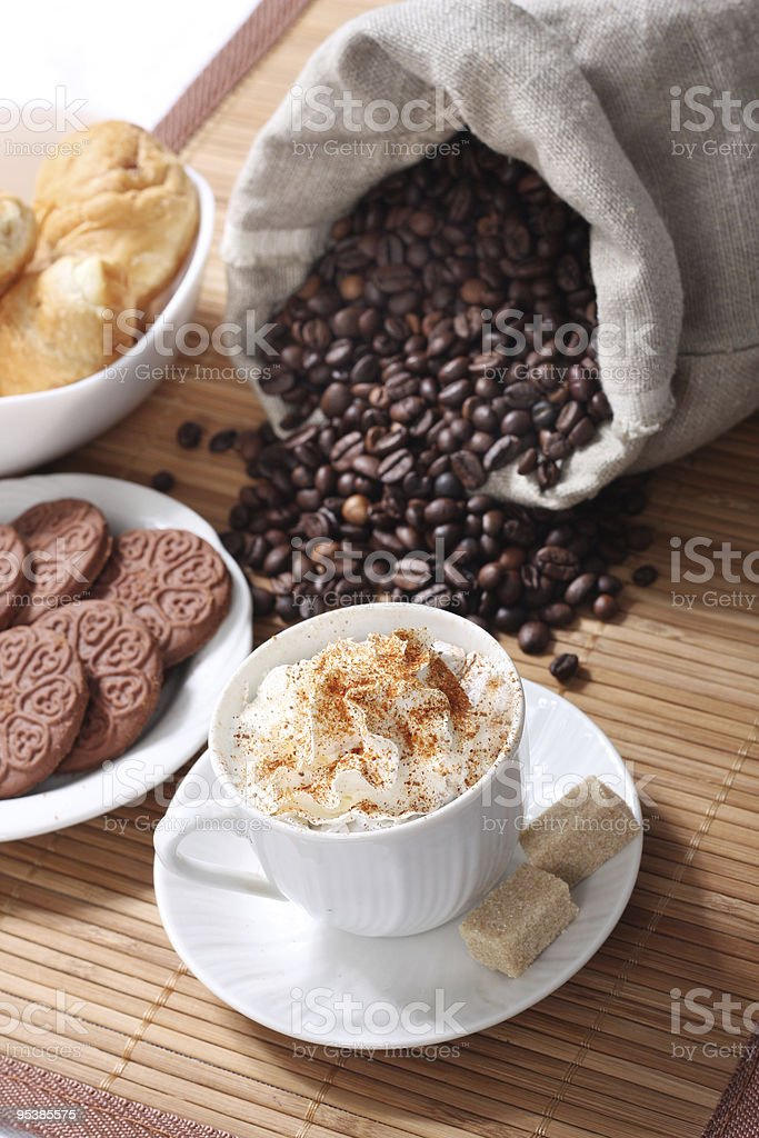 coffee and biscuit royalty-free stock photo