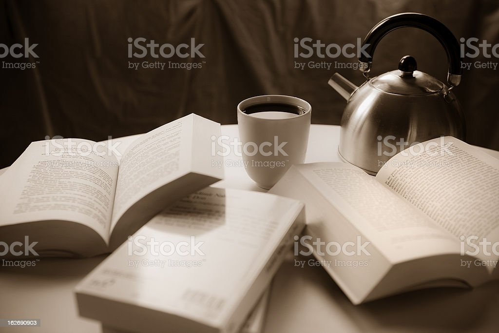 Coffee and books royalty-free stock photo