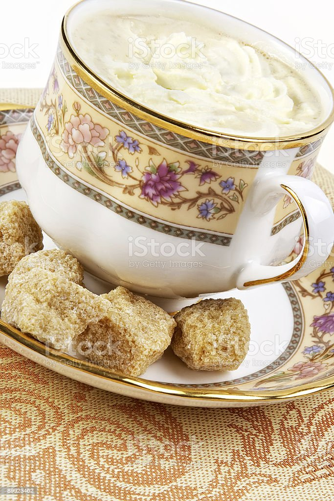 Coffee and brown sugar royalty-free stock photo