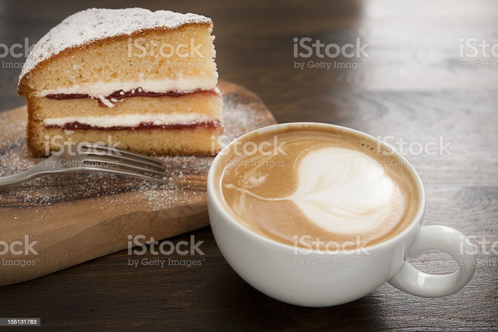 coffee and cake stock photo