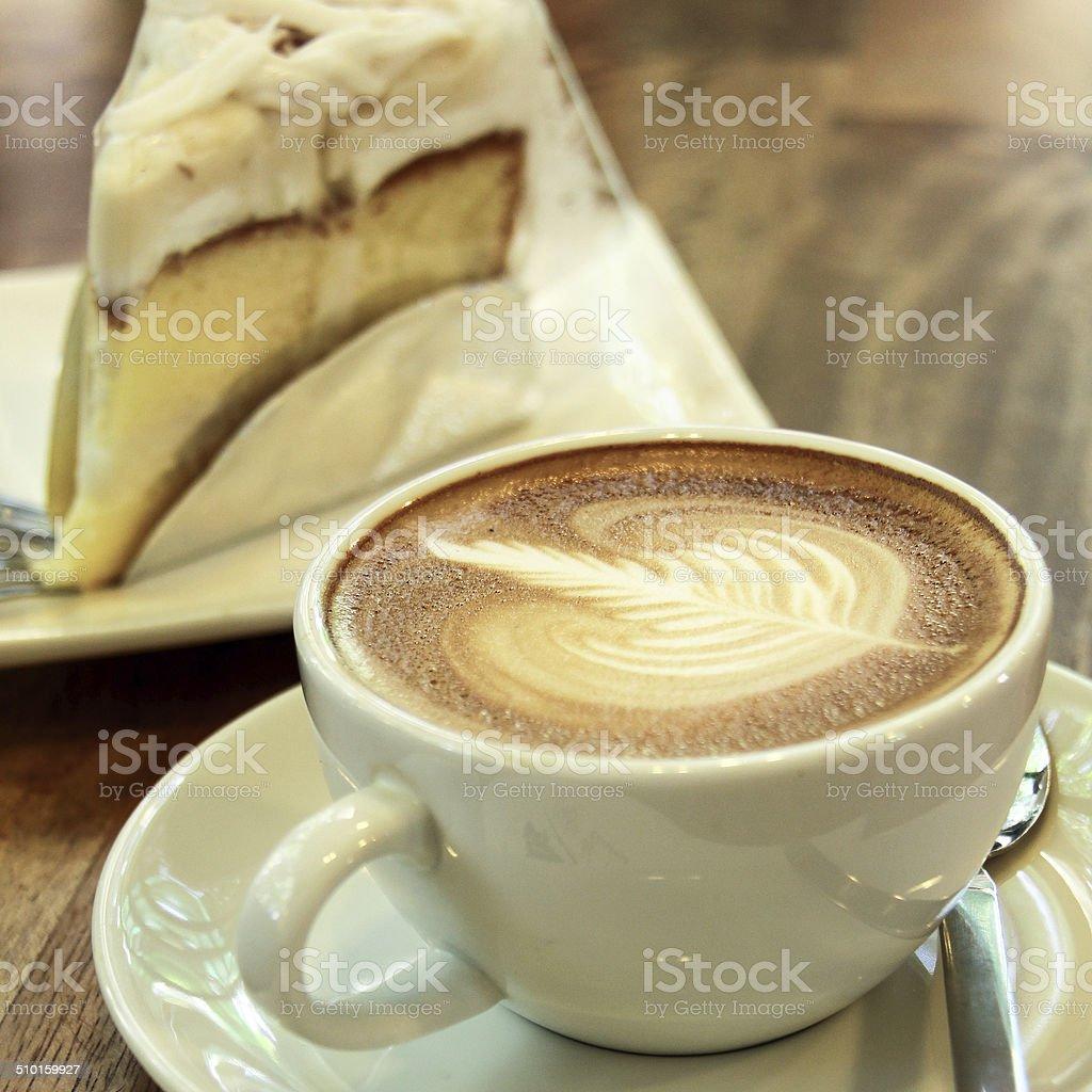 Coffee and cake. stock photo