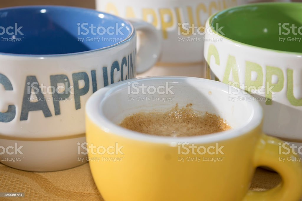 coffee and cappuccino stock photo