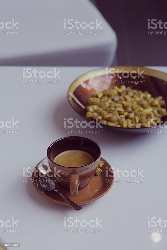 Kaffee- und Karamelltönen Lizenzfreies stock-foto