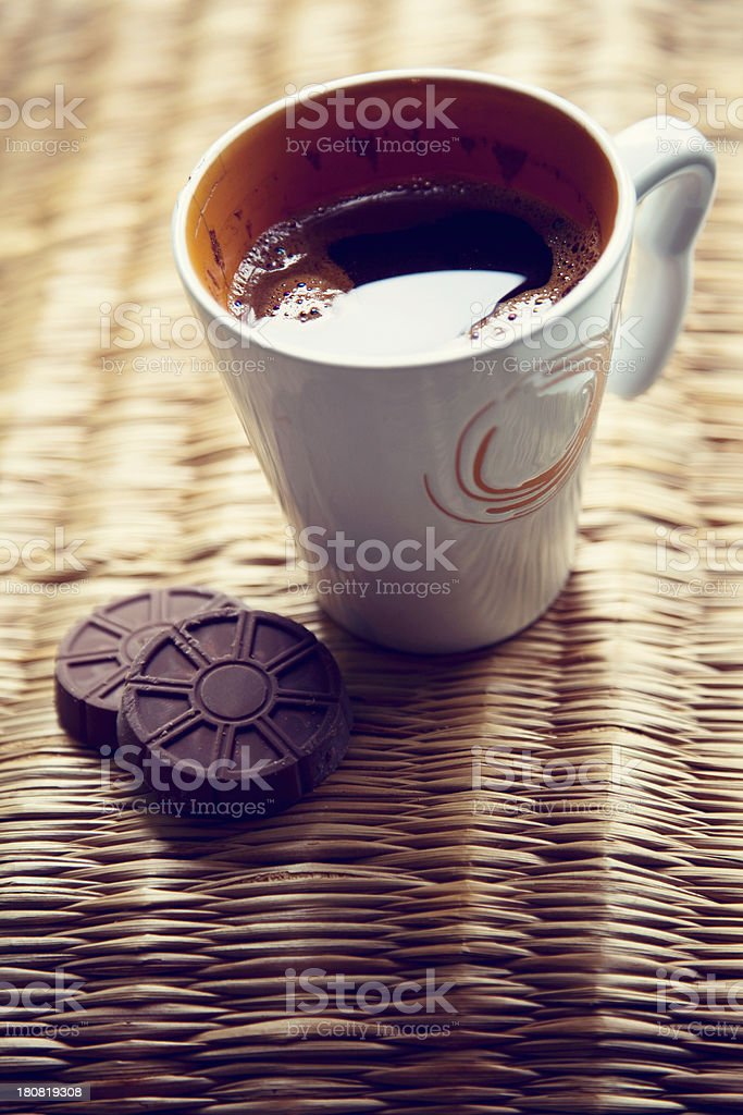 Coffee And Chocolate cookies royalty-free stock photo