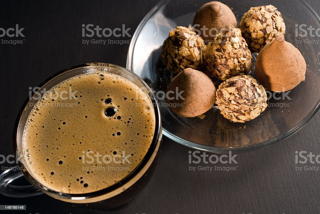Coffee and chocolate royalty-free stock photo