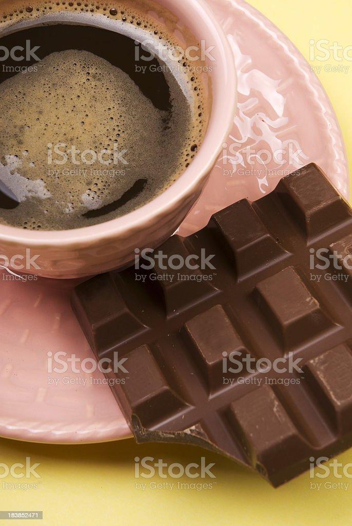 Coffee and chocolate royalty-free stock photo