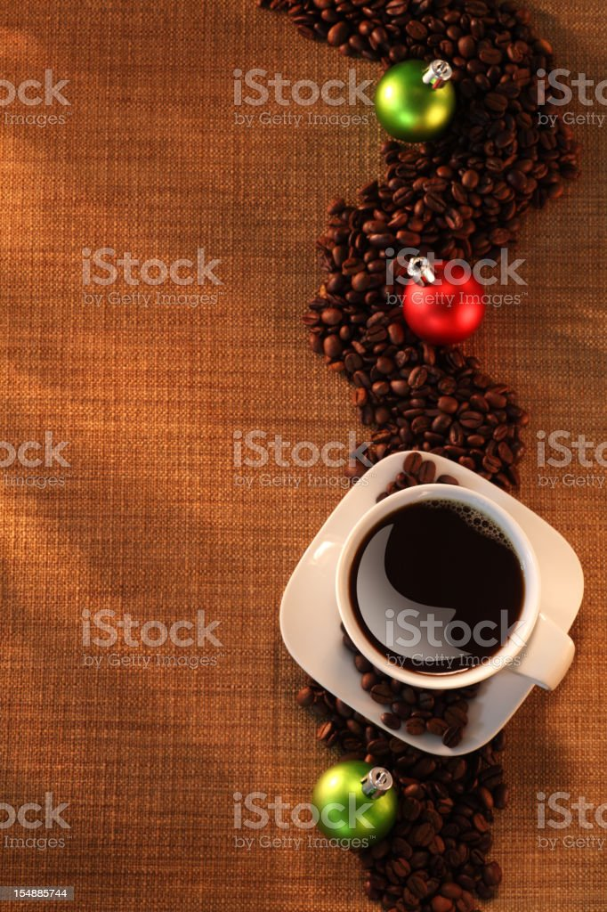 Coffee and Christmas Time royalty-free stock photo