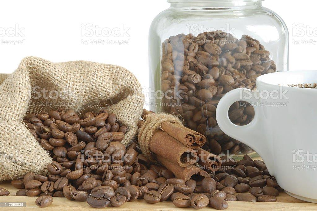 Coffee and cinnamon royalty-free stock photo