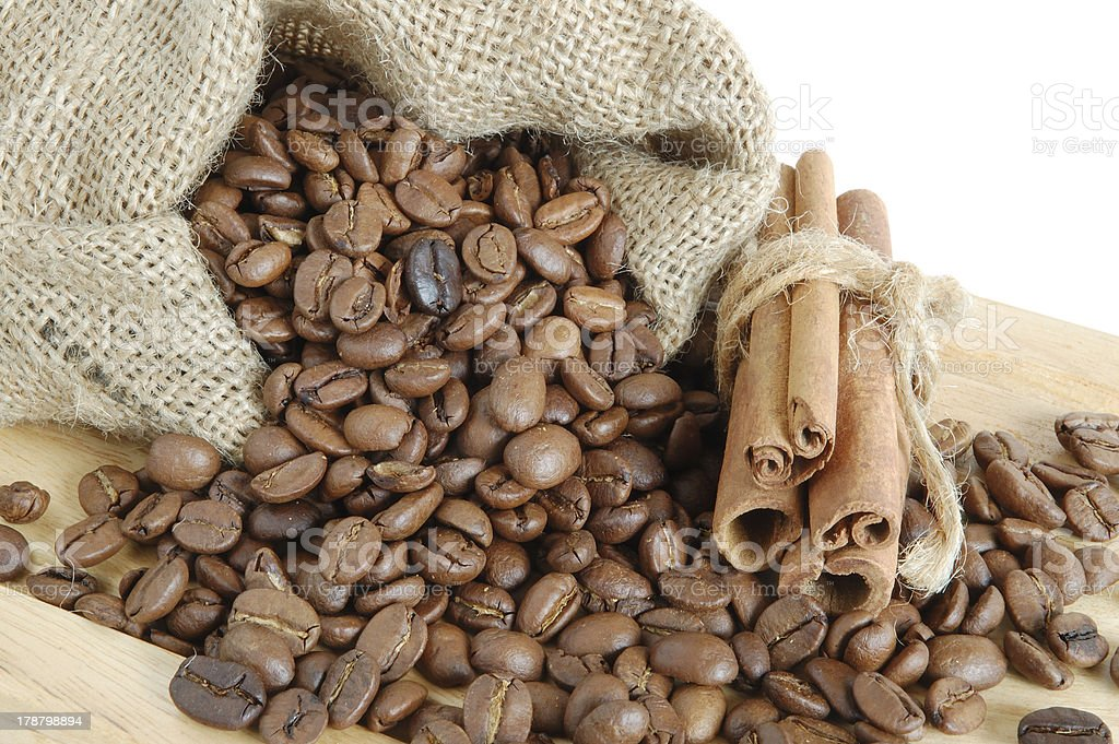 Coffee and cinnamon royalty-free stock photo