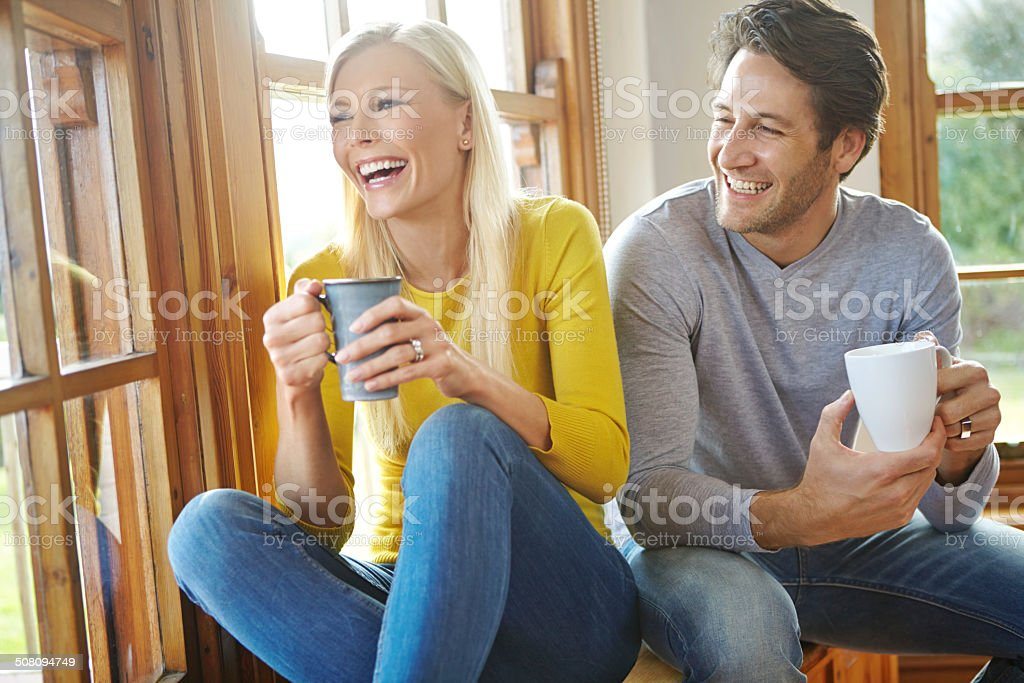 Coffee and companionship stock photo