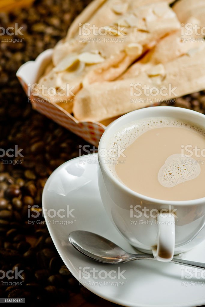 coffee and cookie. stock photo