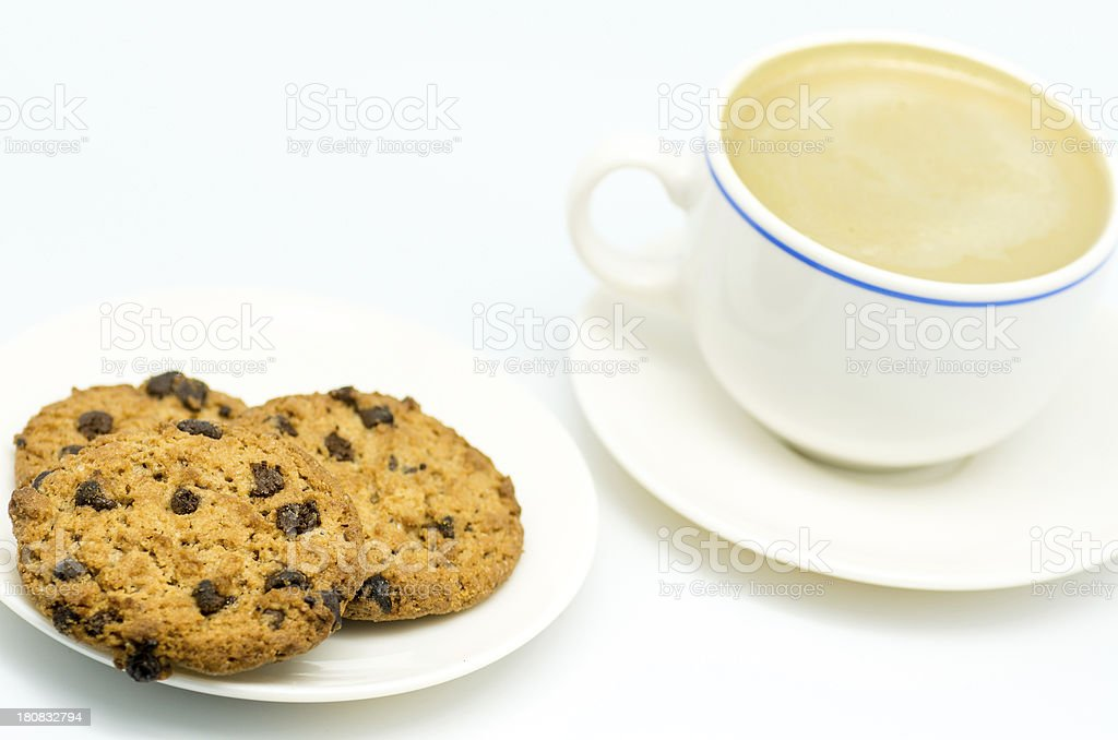 coffee and cookies 2 royalty-free stock photo