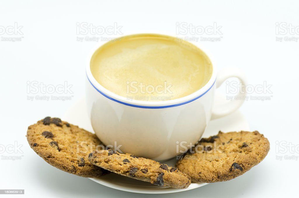 coffee and cookies 3 royalty-free stock photo