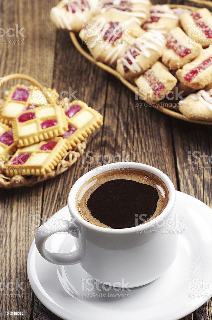 Café y las cookies foto de stock libre de derechos