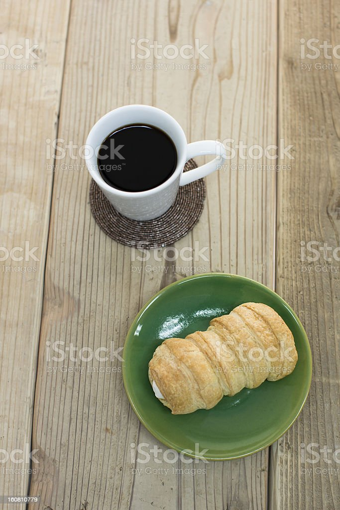 Coffee and cornet royalty-free stock photo