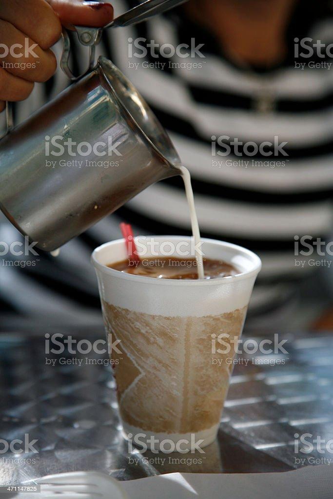 Coffee and cream stock photo