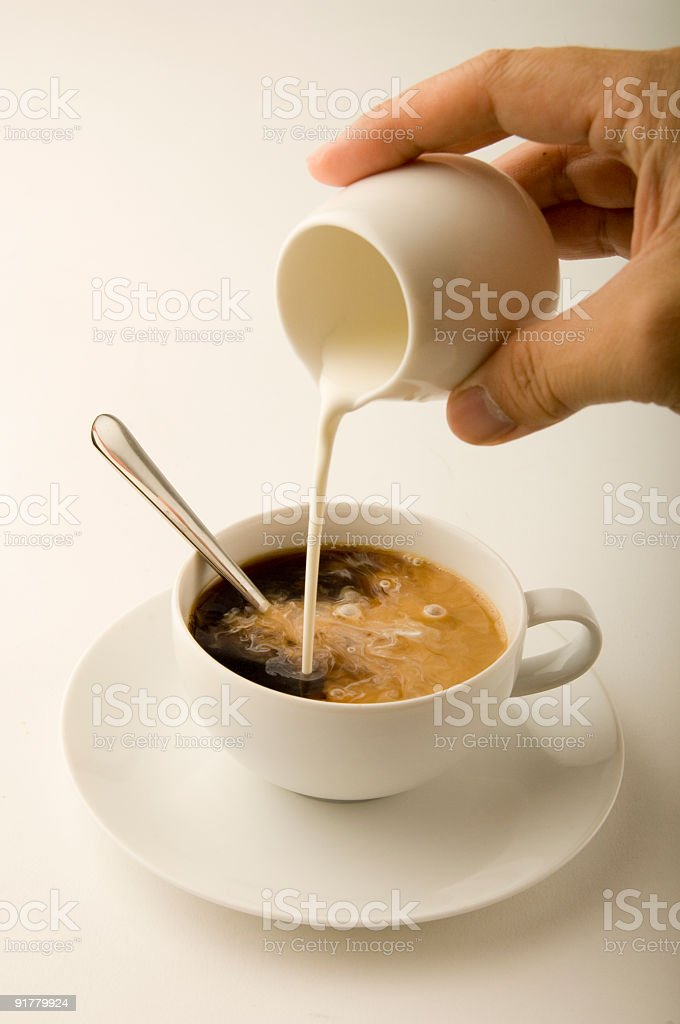 Coffee and Cream stock photo
