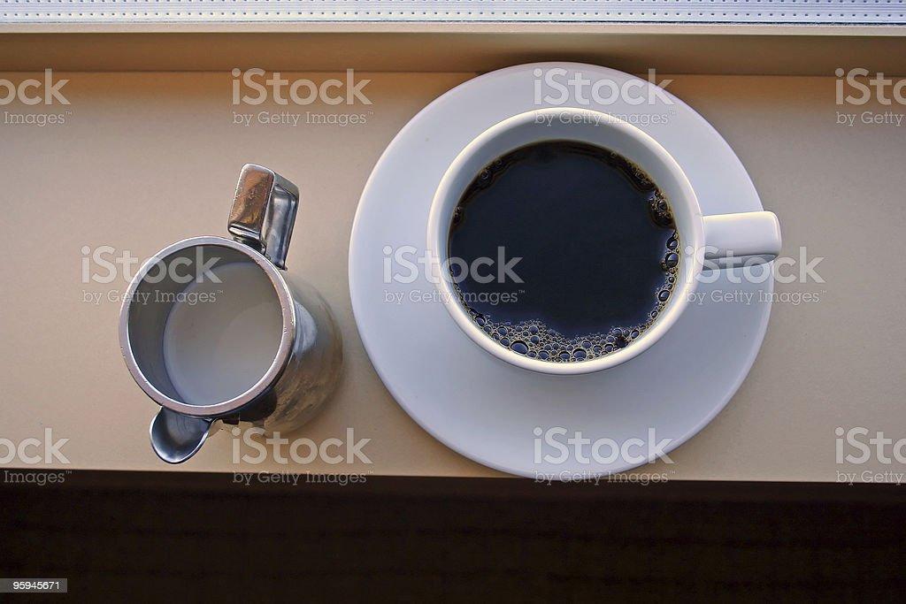 Café et crème photo libre de droits