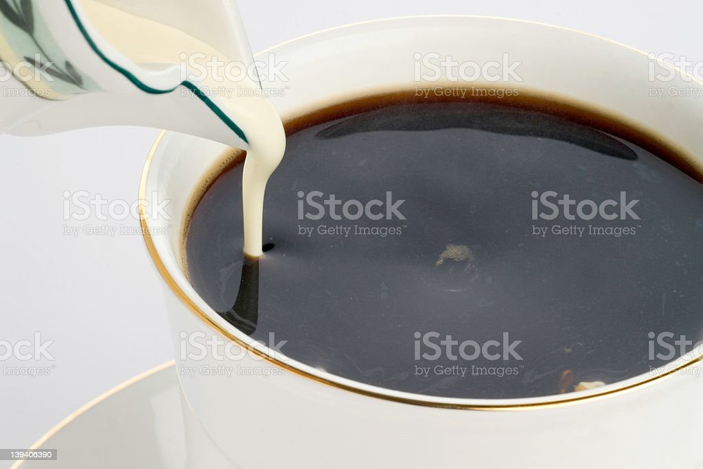 Coffee and cream, studio high-key shot royalty-free stock photo