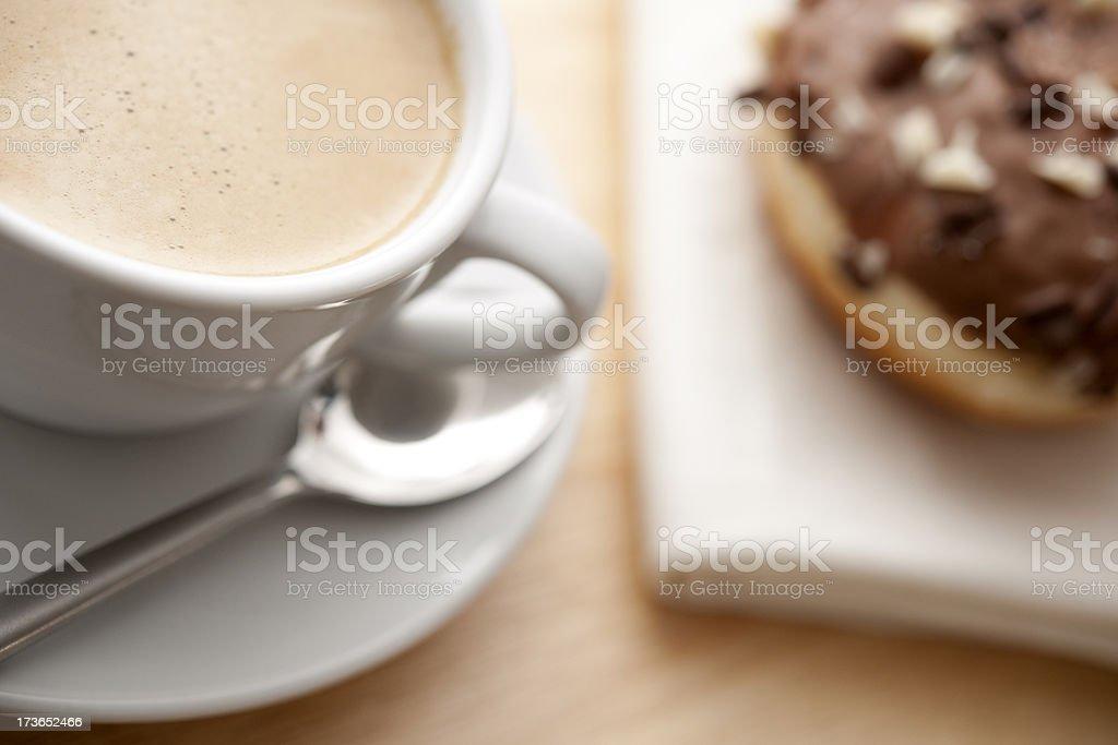 coffee and doughnut royalty-free stock photo