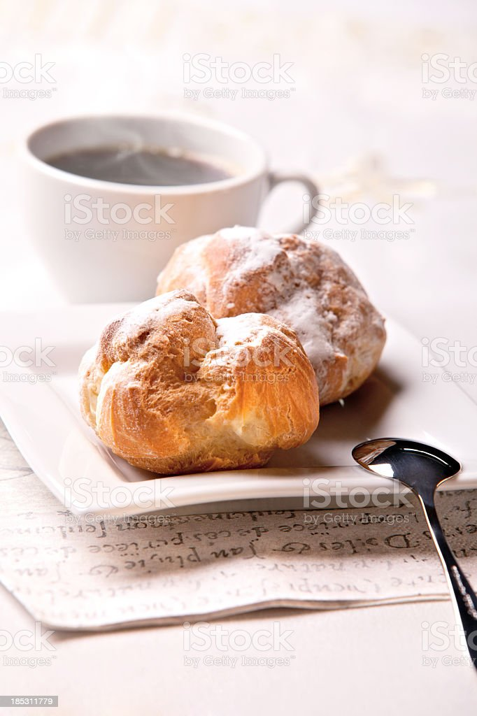 coffee and eclair royalty-free stock photo