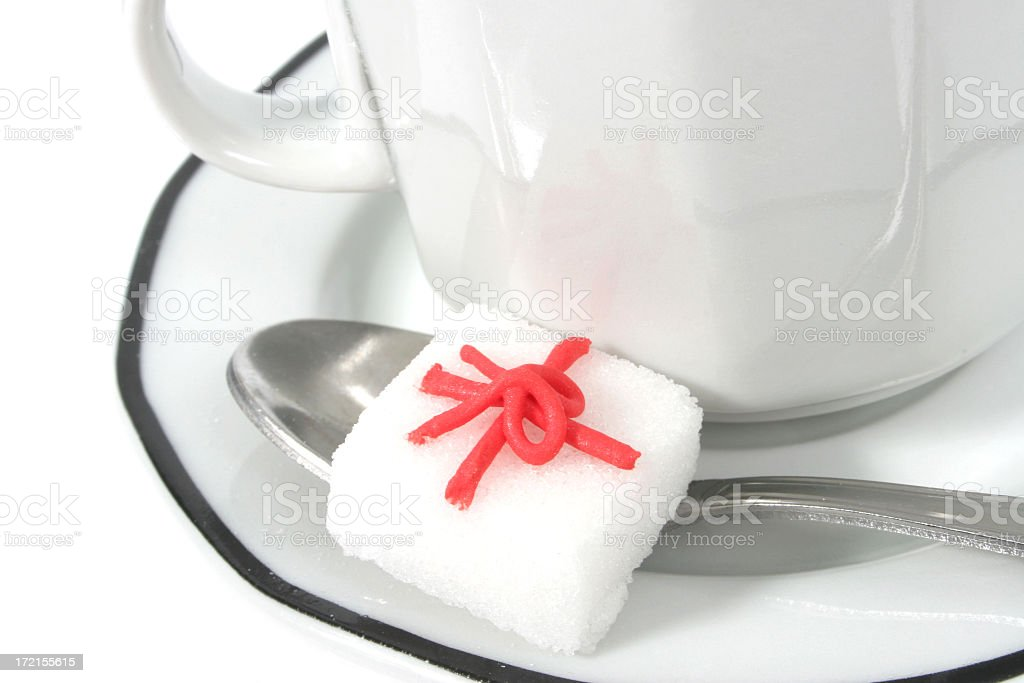 Coffee and gift royalty-free stock photo