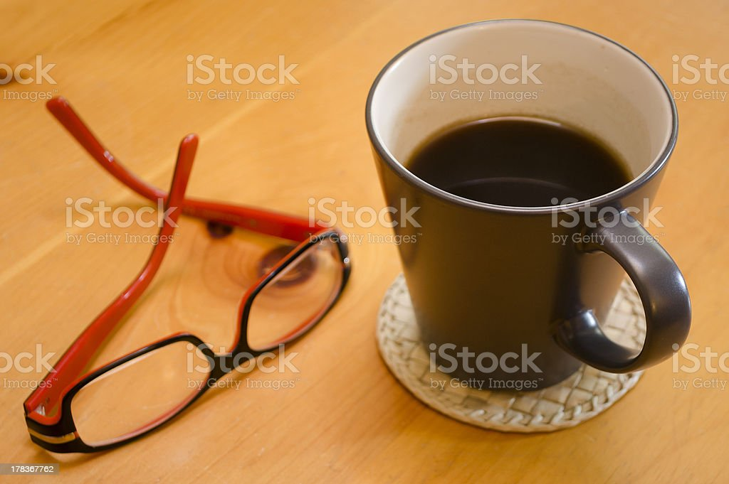 Coffee and glasses royalty-free stock photo