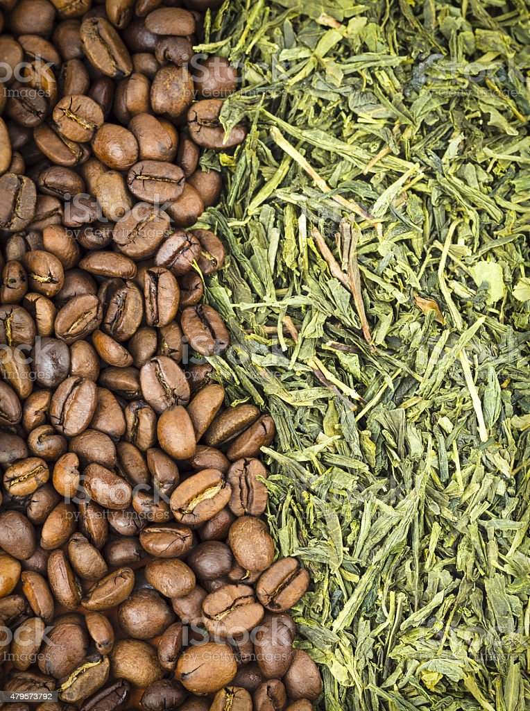 Coffee and Green tea royalty-free stock photo