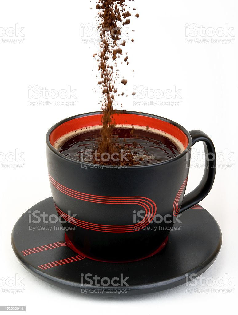 coffee and ground royalty-free stock photo
