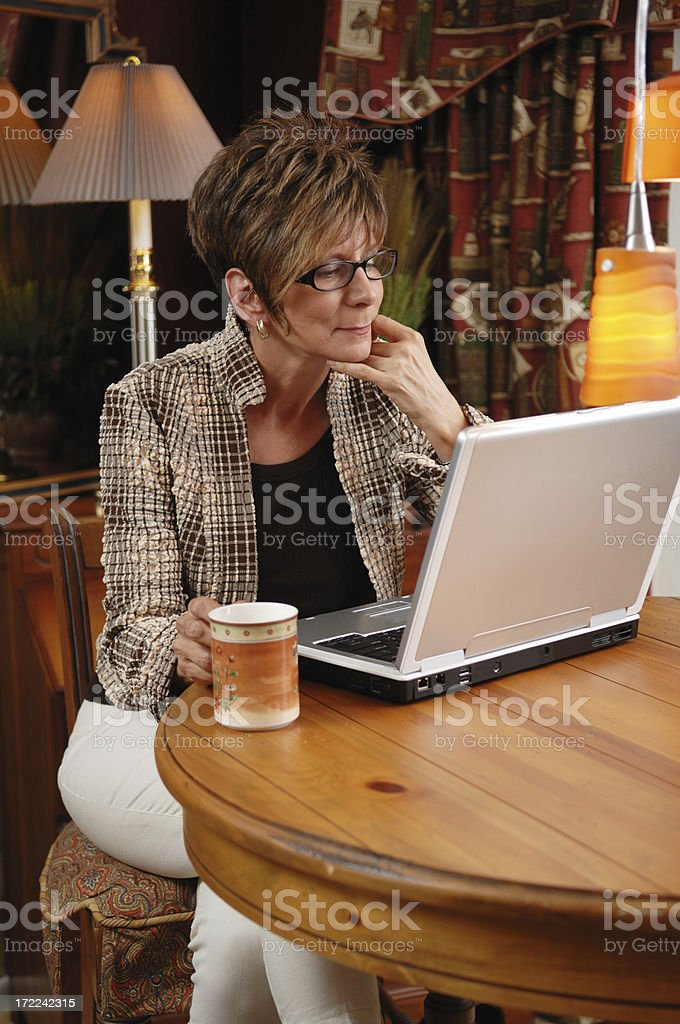 Coffee and Laptop royalty-free stock photo