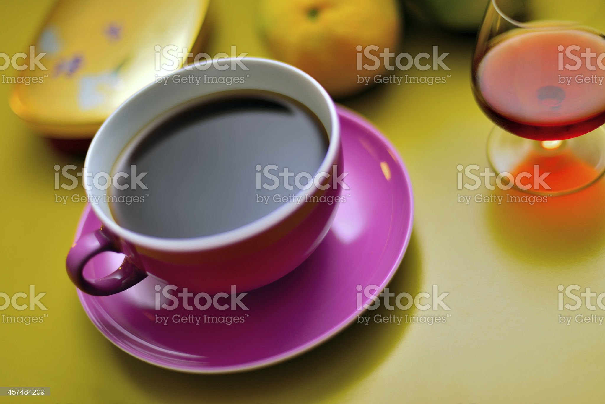 coffee and liqueur 2 royalty-free stock photo