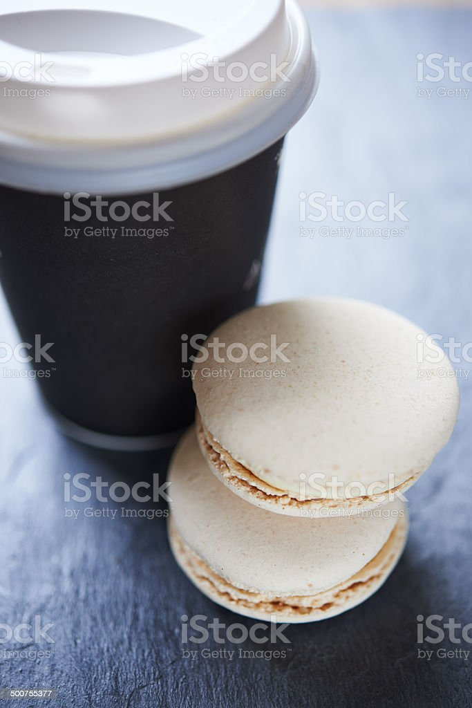 coffee and macaroons royalty-free stock photo