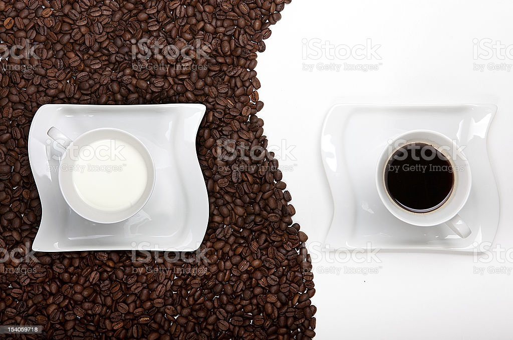 Coffee and Milk royalty-free stock photo