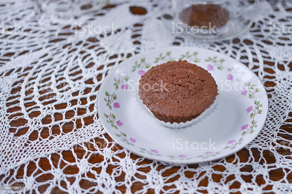 coffee and muffin stock photo