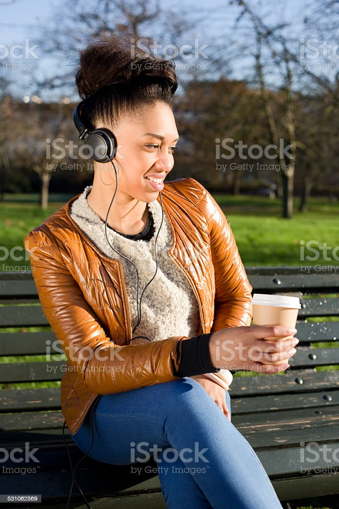 coffee and music royalty-free stock photo