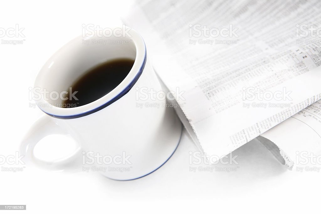 coffee and news royalty-free stock photo