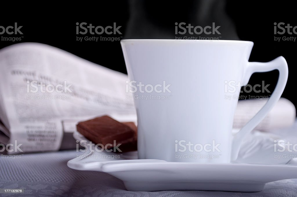 Coffee and newspapers royalty-free stock photo