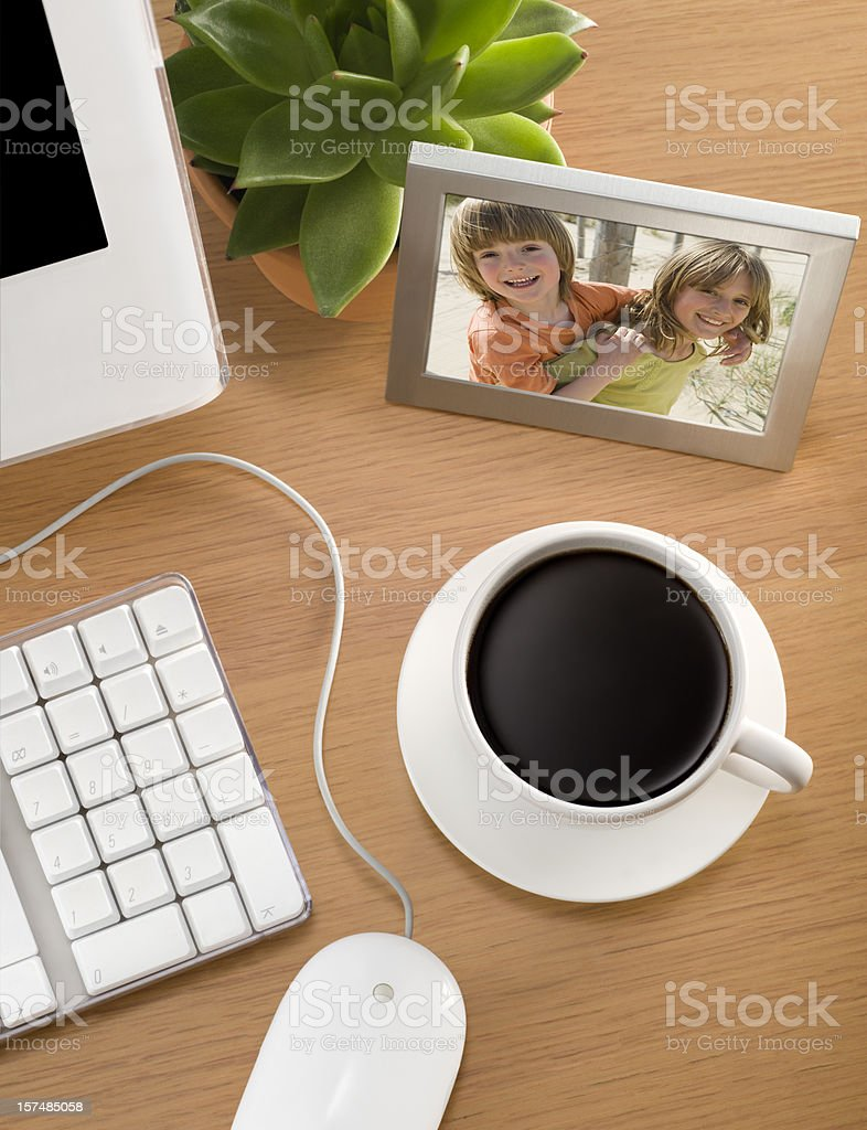 Coffee and Photo stock photo