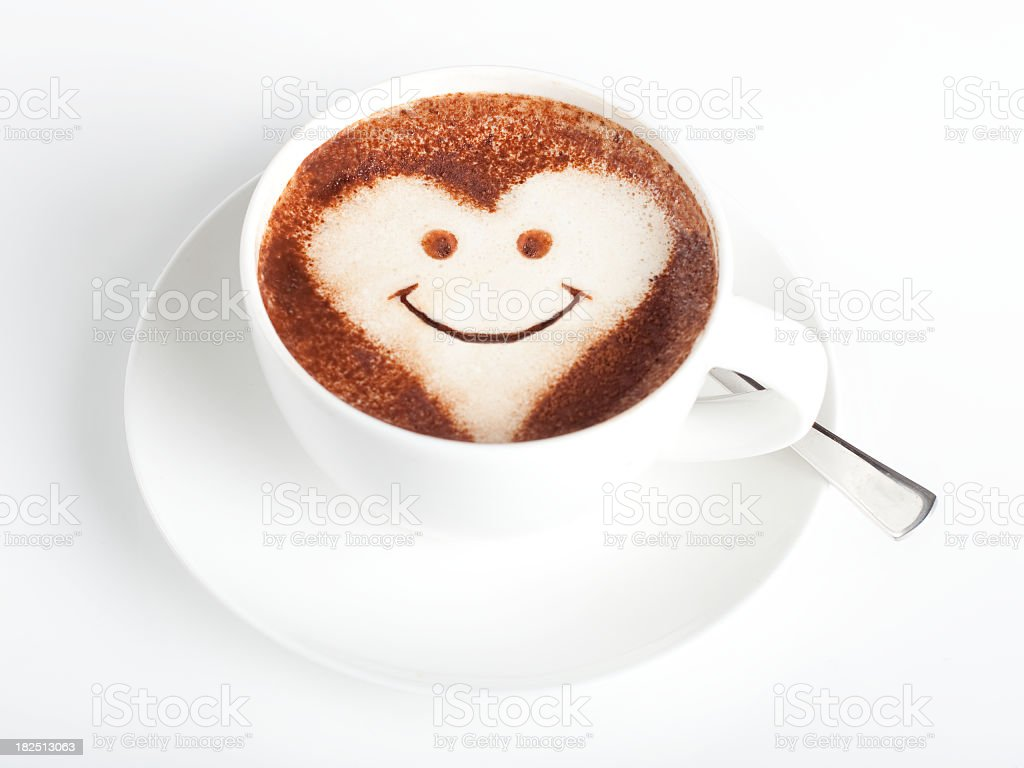 Coffee and Smiley Face royalty-free stock photo