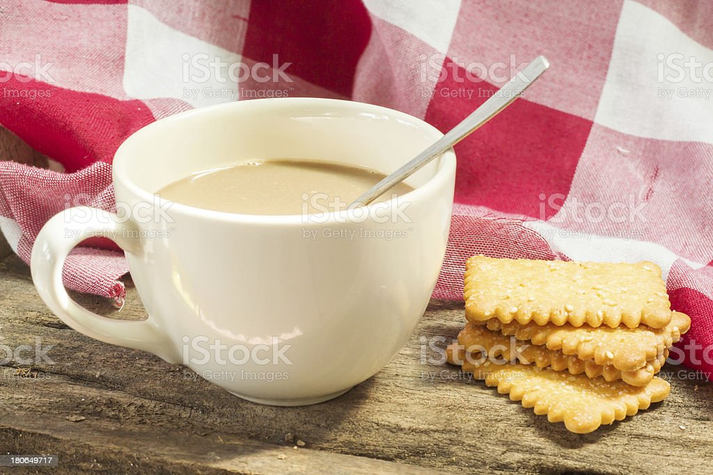 Coffee and snack royalty-free stock photo
