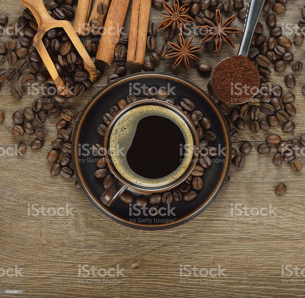 Coffee and spices royalty-free stock photo