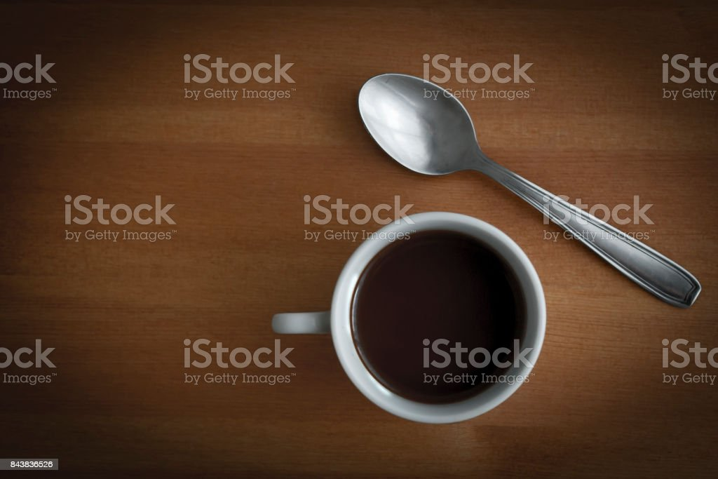Coffee and spoon stock photo