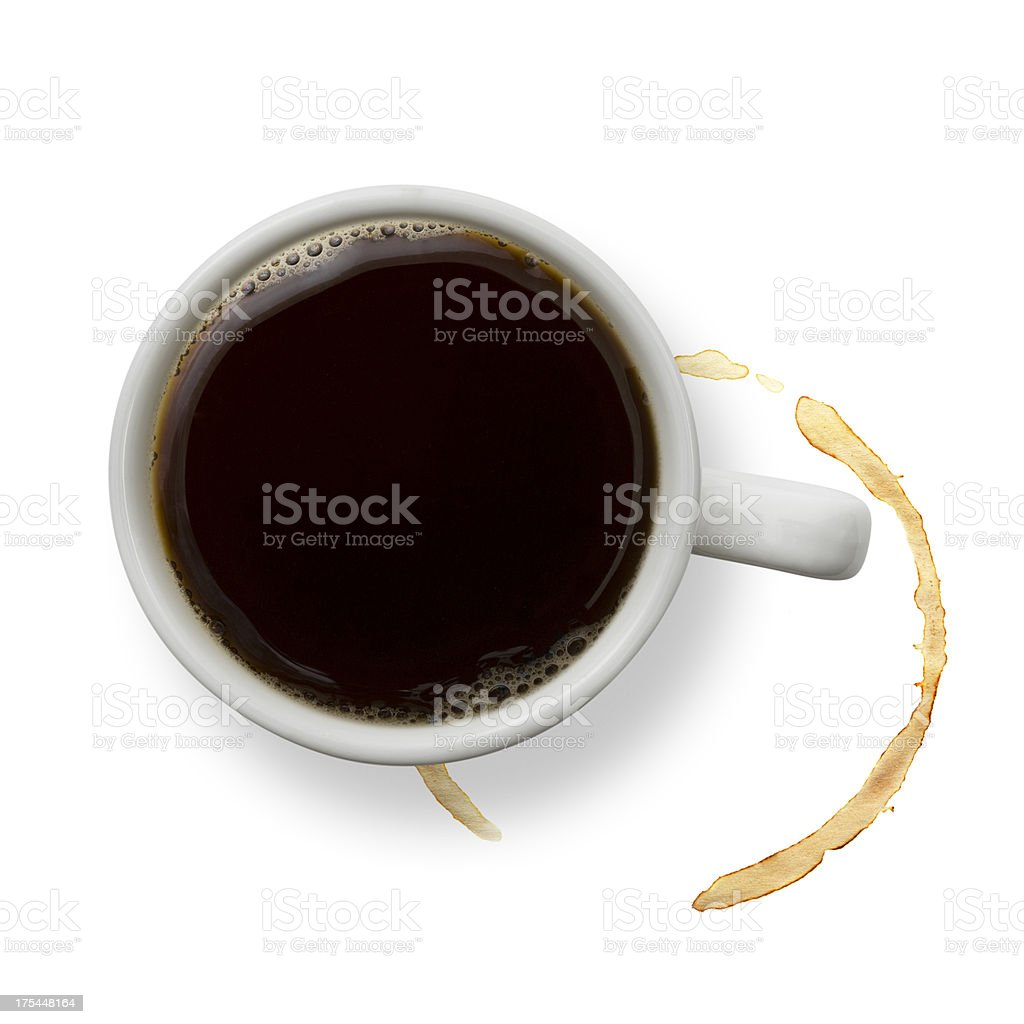 Coffee and stains stock photo