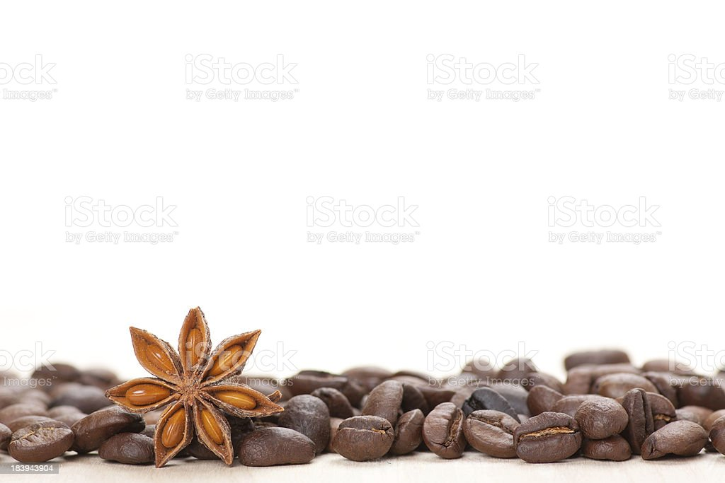 Coffee and star anise royalty-free stock photo