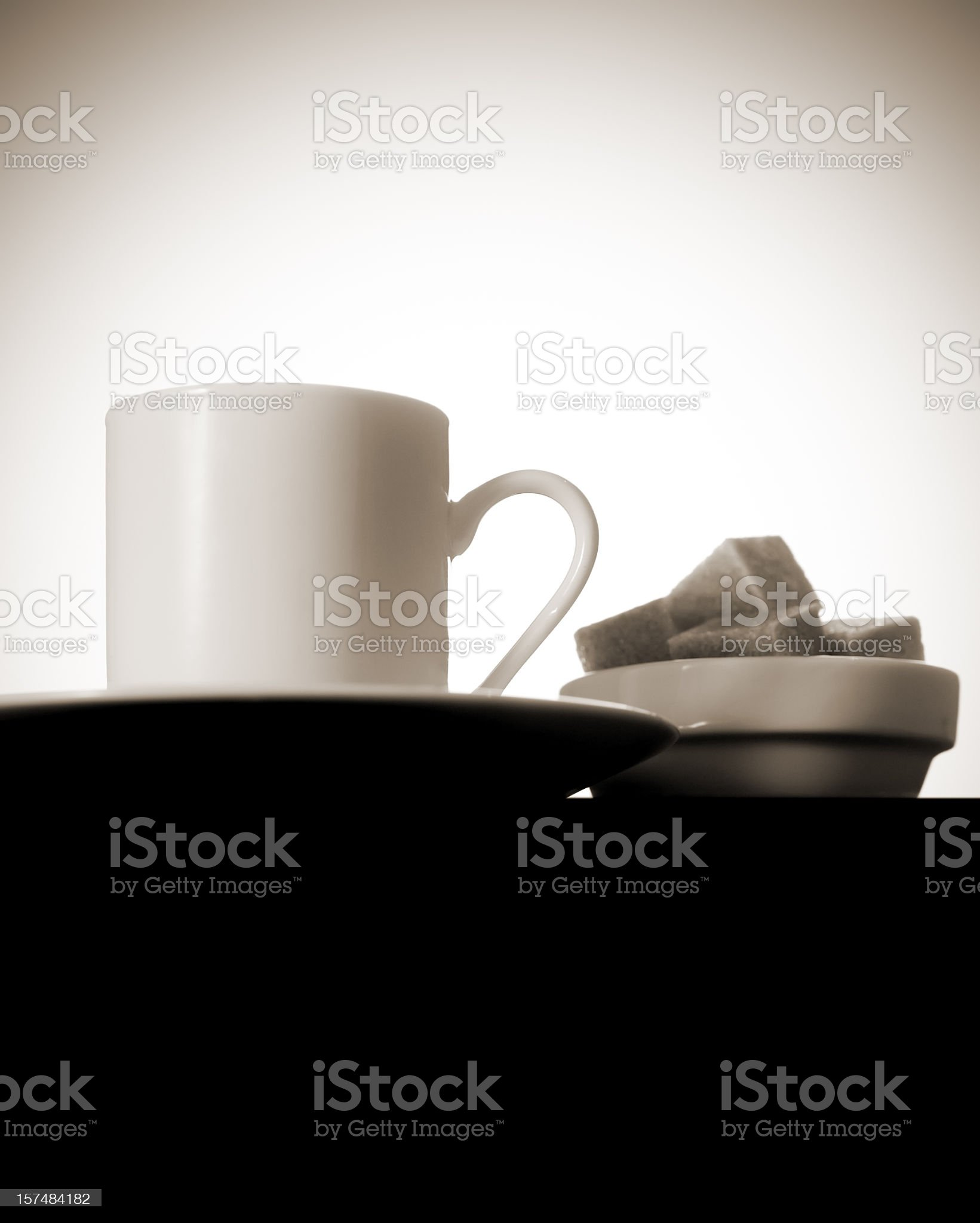 Coffee and sugar royalty-free stock photo