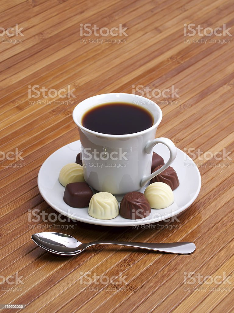Coffee and sweetmeats royalty-free stock photo