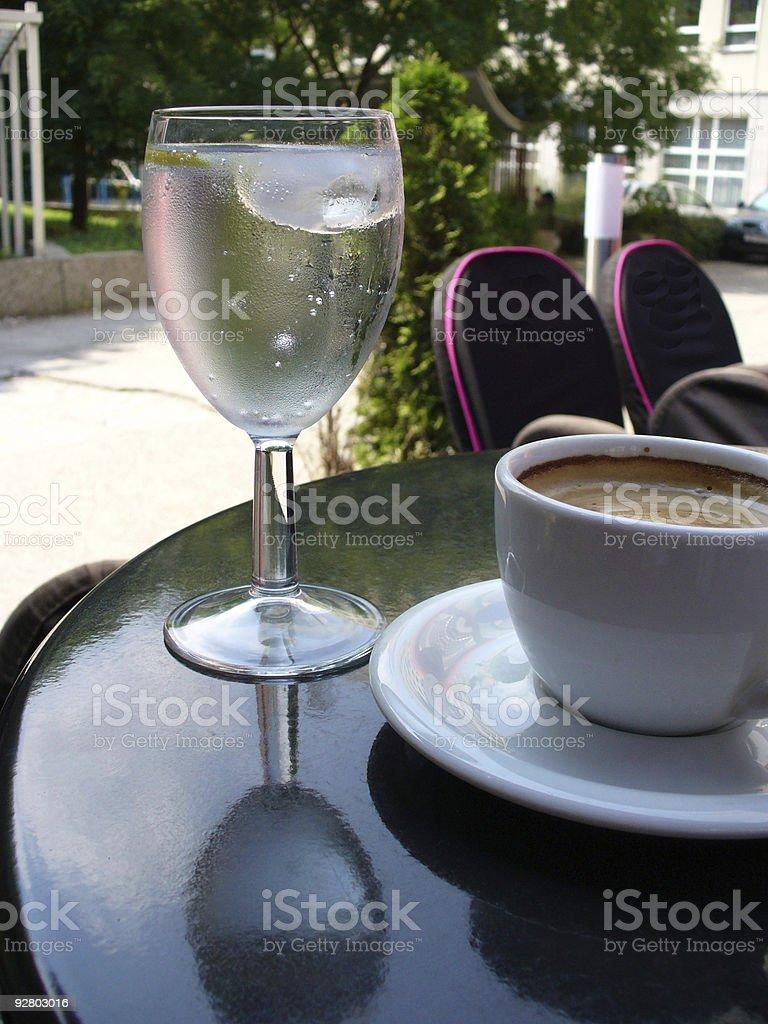 coffee and tap water stock photo